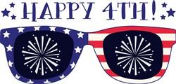 Happy 4th Sunglasses Print Art