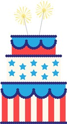 USA Cake Print Art