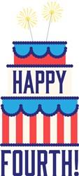Happy Fourth Cake Print Art