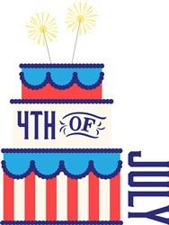 4th Of July Cake Print Art