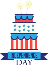 Independence Day Cake Print Art