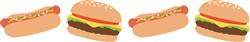 Burgers & Hot Dogs Print Art