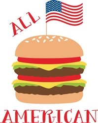 All American Burger Print Art