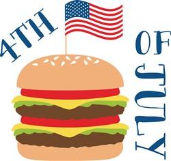 4th Of July Burger Print Art