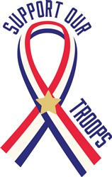 Support Our Troops Ribbon Print Art