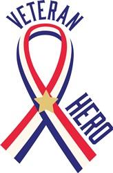 Veteran Hero Ribbon Print Art
