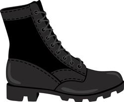 Combat Boot Print Art