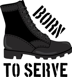 Born To Serve Print Art