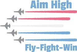 Aim High Planes Print Art