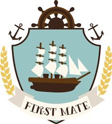First Mate Crest Print Art
