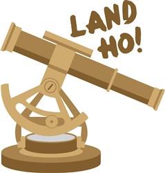 Land Ho Telescope Print Art