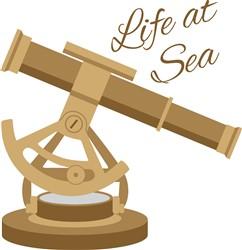 Life At Sea Telescope Print Art