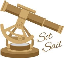 Set Sail Telescope Print Art