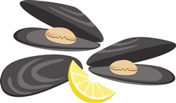 Seafood Mussels Print Art