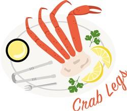 Crab Legs Meal Print Art