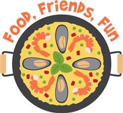 Food Friends Fun Print Art