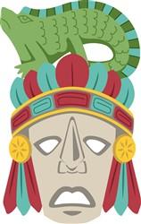 Mayan Mask Print Art