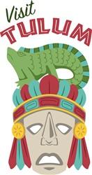 Visit Tulum Mask Print Art