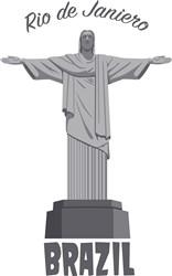 Rio De Janeiro Statue Print Art
