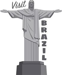 Visit Brazil Statue Print Art