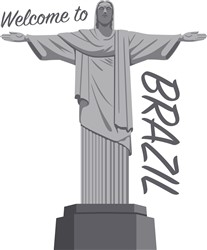 Welcome To Brazil Statue Print Art