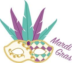 Mardi Gras Mask Print Art