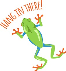 Hang In There Frog Print Art