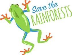 Save The Rainforests Frog Print Art