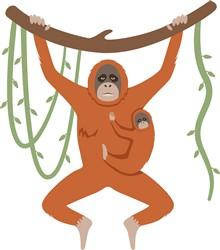 Orangutan Print Art
