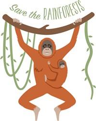 Save The Rainforests Orangutans Print Art