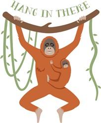 Hang In There Orangutans Print Art