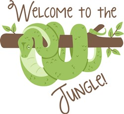 Welcome To Jungle Snake Print Art