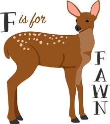 F Is For Fawn Print Art