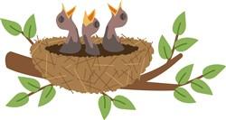 Bird Nest Print Art
