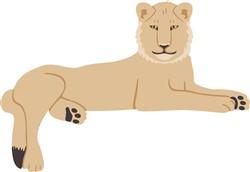 African Lion Print Art