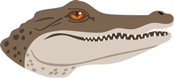 Crocodile Head Print Art