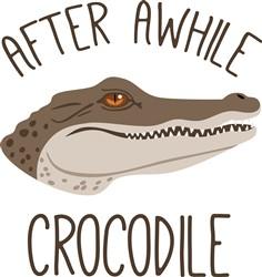 Awhile Crocodile Print Art