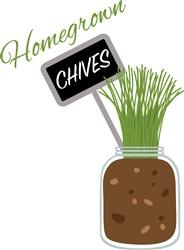 Homegrown Chives Print Art
