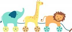 Toy Animals Print Art
