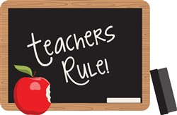 Teachers Rule Print Art