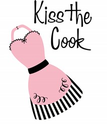 Kiss The Cook Apron Print Art