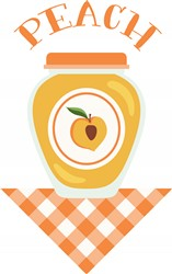 Peach Jar Print Art