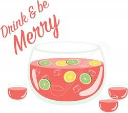 Drink & Be Merry Print Art