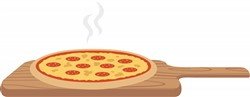 Oven Baked Pizza Print Art
