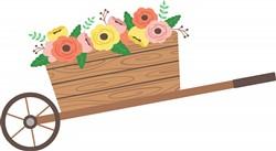 Flower Wheelbarrow Print Art