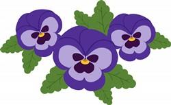 Purple Pansies Print Art