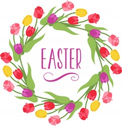 Easter Wreath Print Art