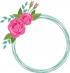Rose Wreath Print Art