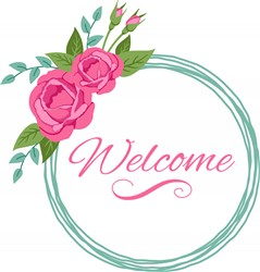 Welcome Roses Print Art