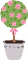 Rose Topiary Print Art
